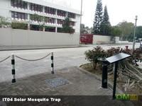 智慧城市加裝鐵籠安全保護太陽能滅蚊燈,驅蚊燈,請勿靠近