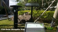 智慧城市公園內安裝太陽能滅蚊燈,蚊子自然少